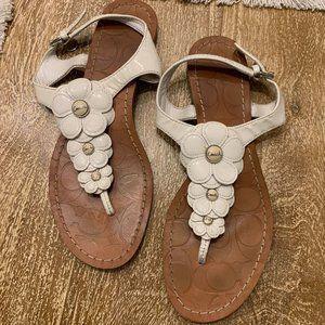 COACH Floral Sandals (Size 7.5)